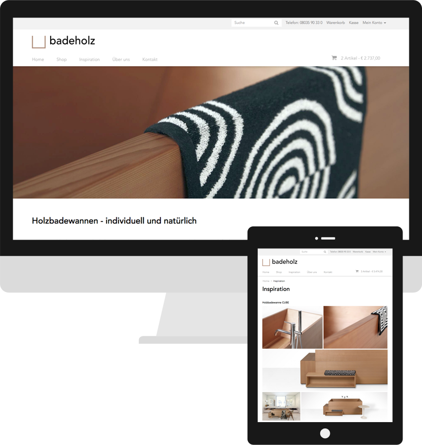Screenshot badeholz opencart