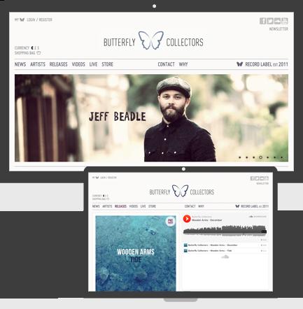 Screenshot Butterfly Collectors Opencart Webshop