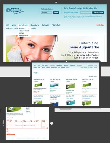 Screenshot Bestellsystem Conta Optic