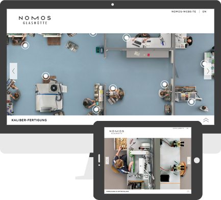 Screenshot Nomos Glashütte